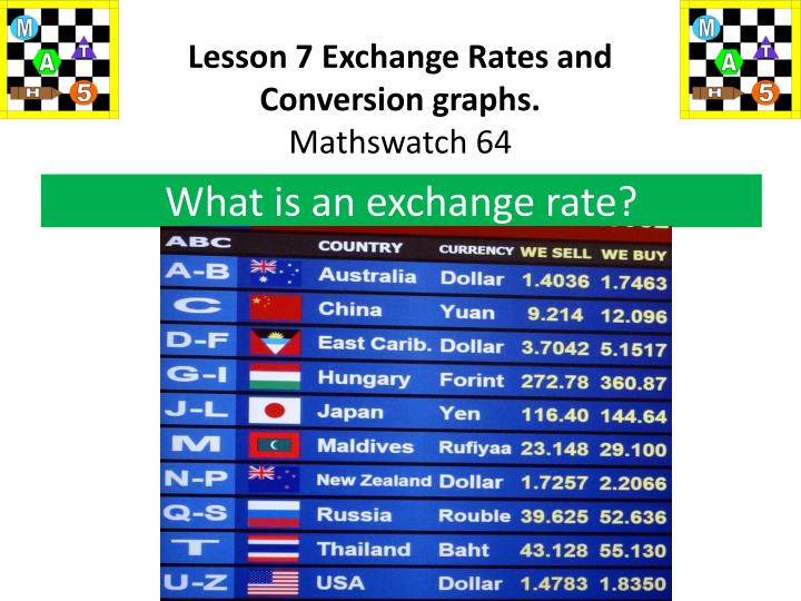 Lesson 7 Exchange Rates and