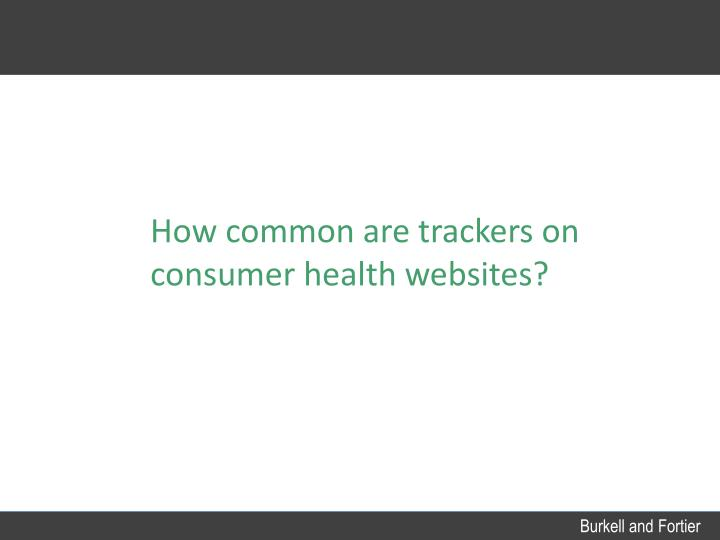 How common are trackers on consumer health websites?