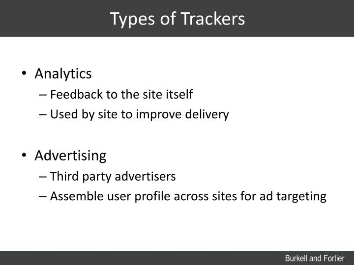 Types of Trackers