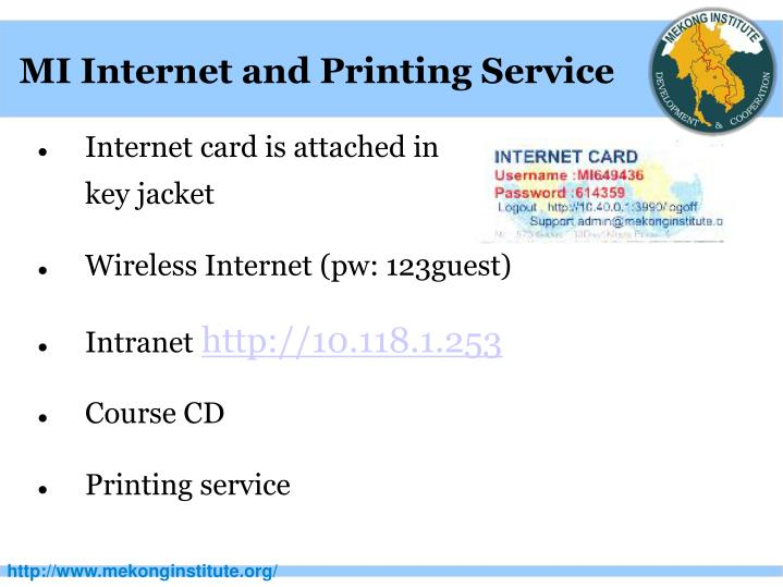 MI Internet and Printing Service