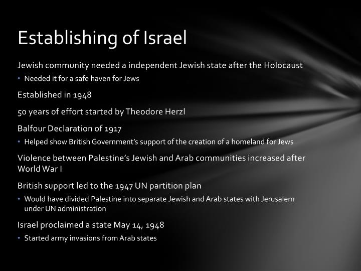 Establishing of Israel