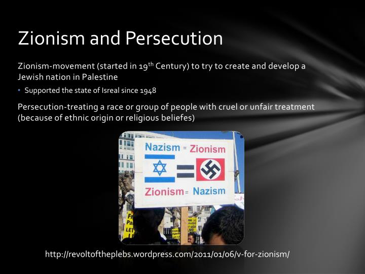 Zionism and persecution