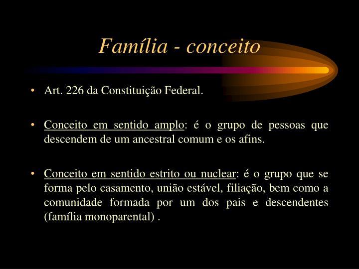 Família - conceito
