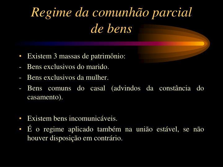 Regime da comunhão parcial