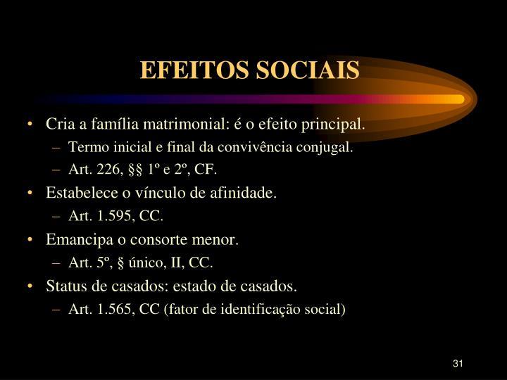 EFEITOS SOCIAIS