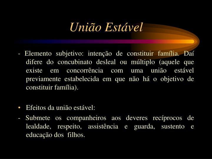 União Estável