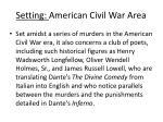 setting american civil war area