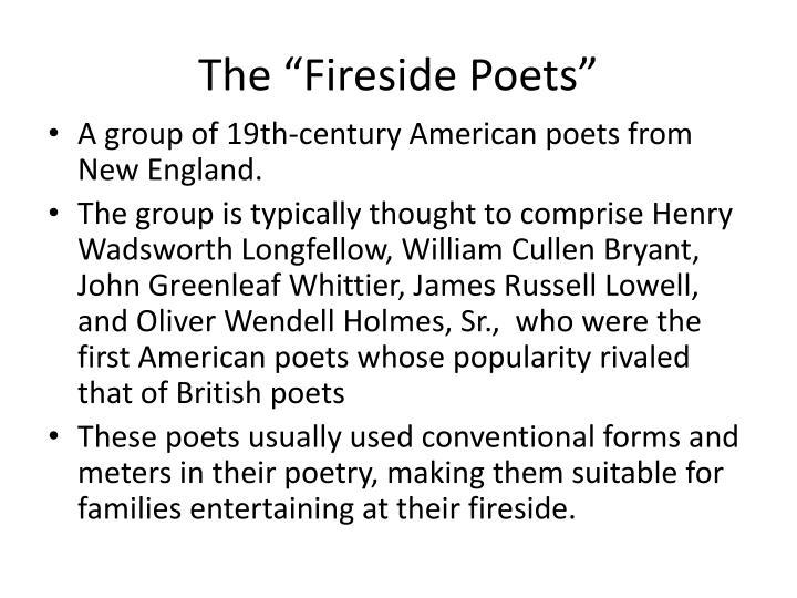 "The ""Fireside Poets"""