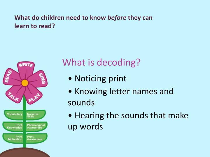 What do children need to know