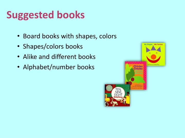 Board books with shapes, colors