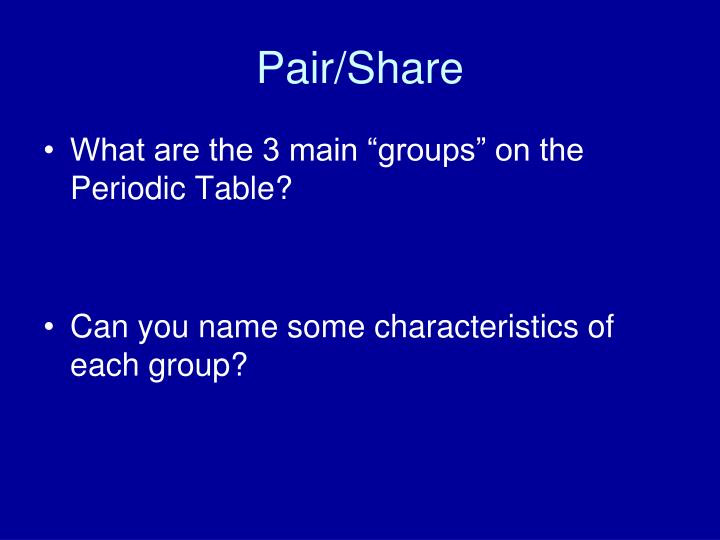 Pair/Share