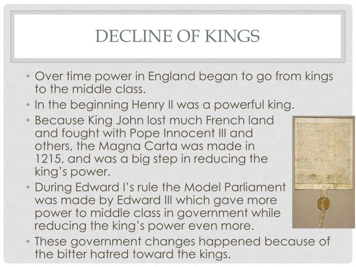 Decline of kings