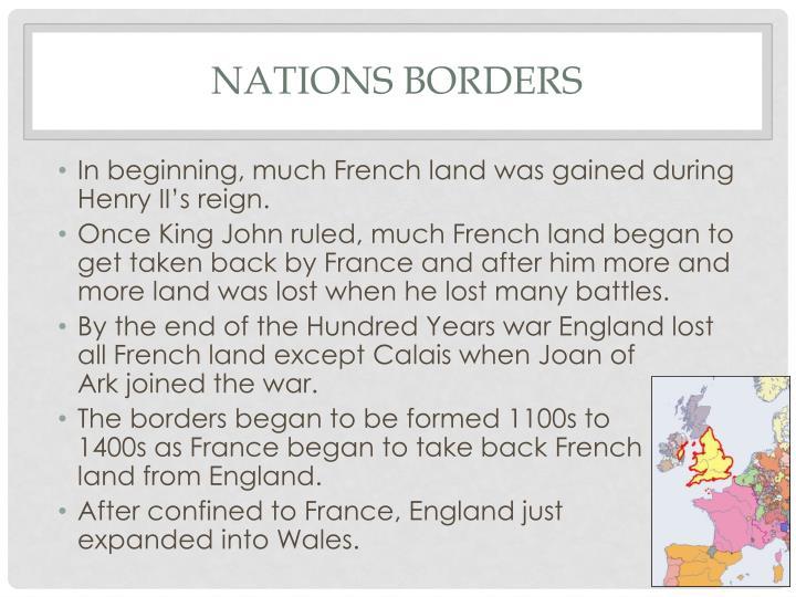 Nations borders