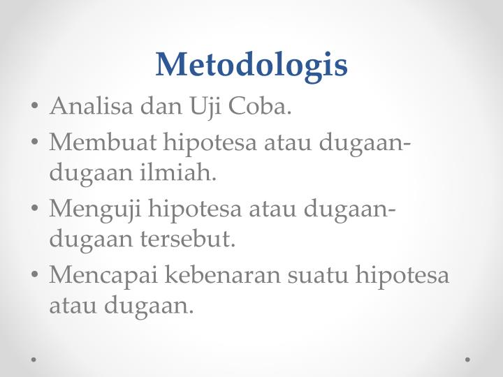 Metodologis