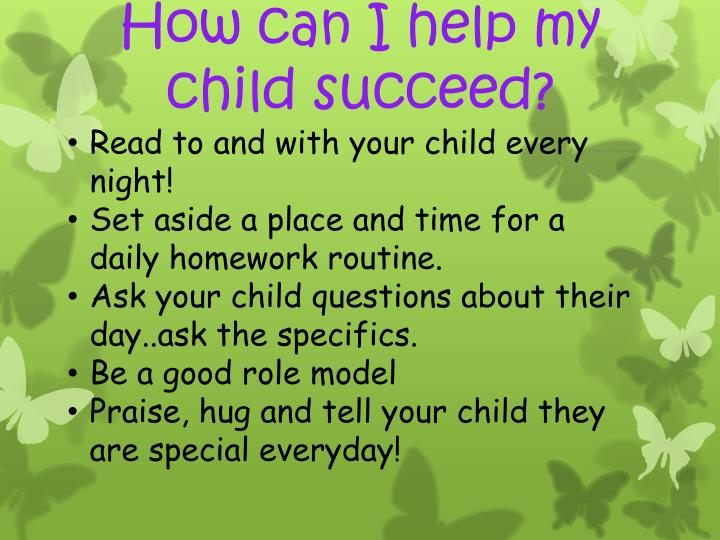 How can I help my child succeed?