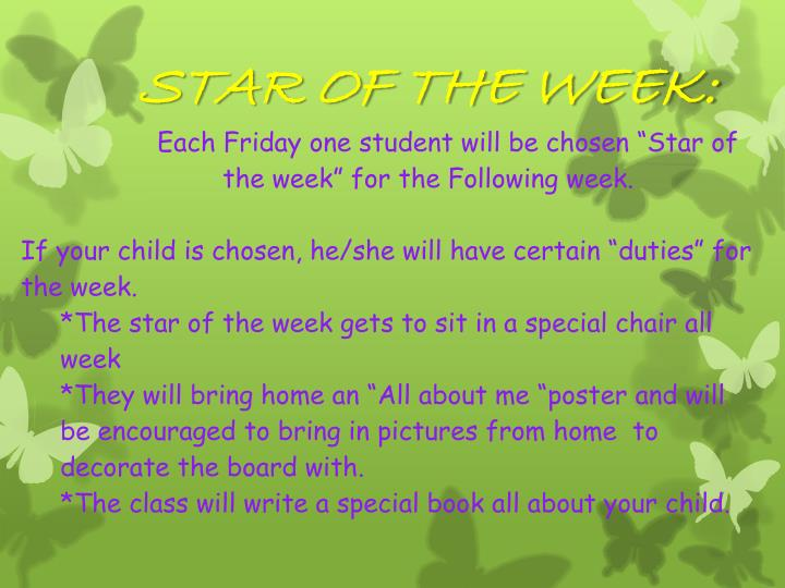 STAR OF THE WEEK: