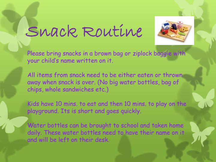 Snack Routine