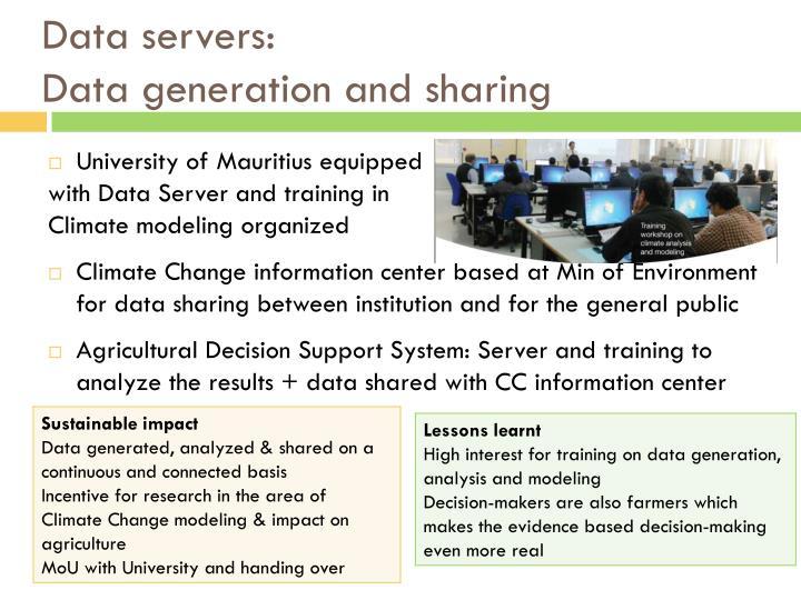 Data servers: