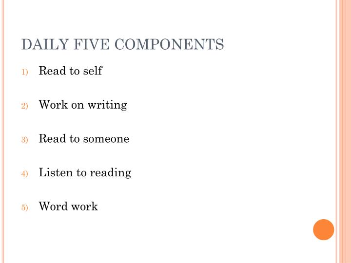 DAILY FIVE COMPONENTS