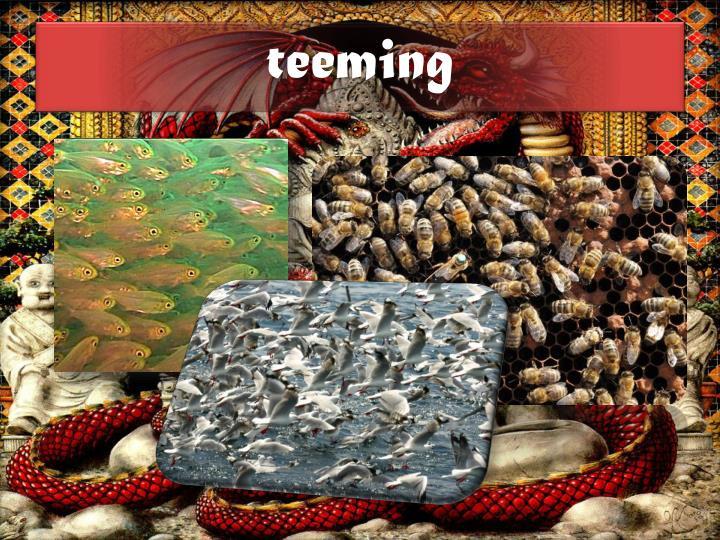 teeming