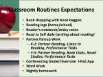 classroom routines expectations