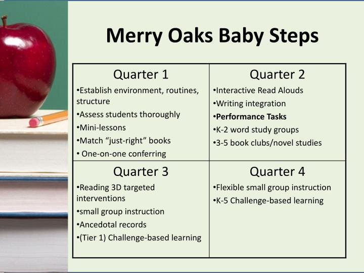 Merry Oaks Baby Steps