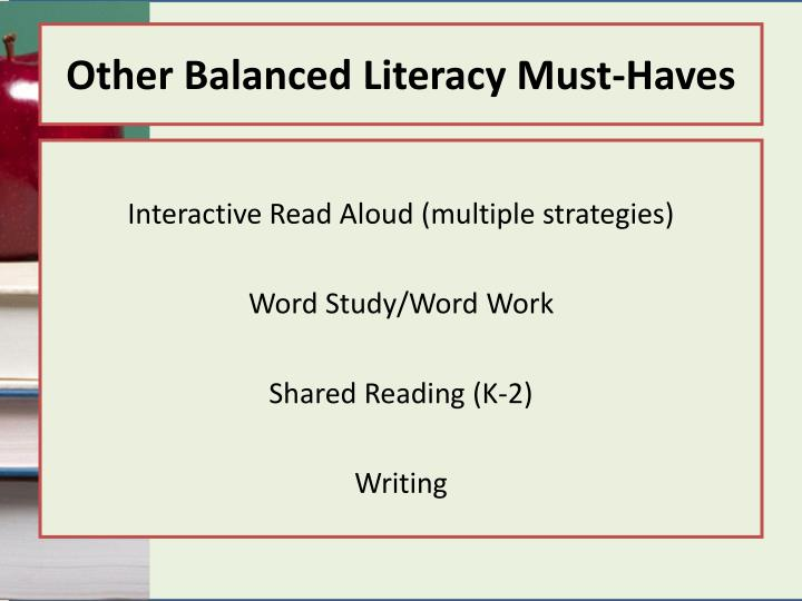 Other Balanced Literacy Must-Haves