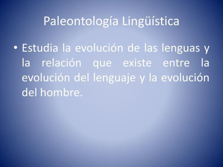 Paleontología Lingüística