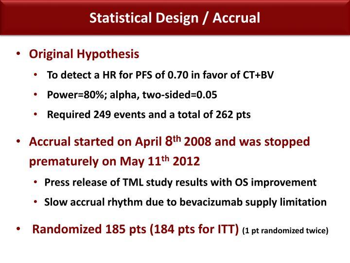 Statistical Design /