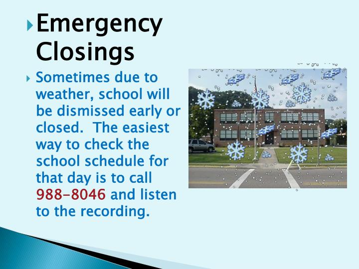 Emergency Closings