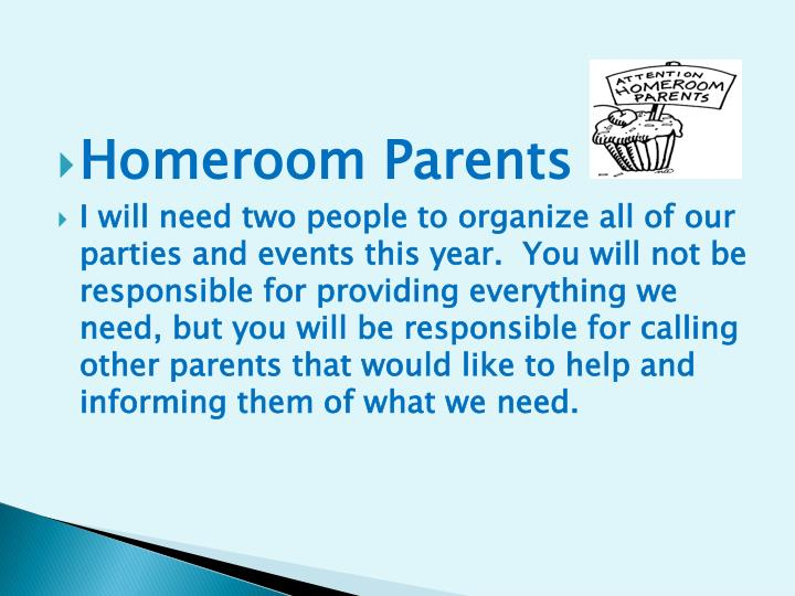 Homeroom Parents