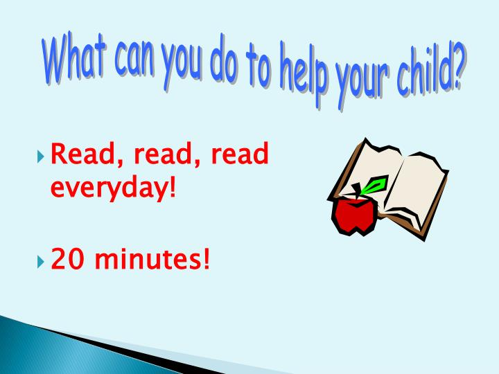 What can you do to help your child?
