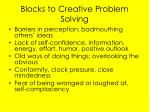 blocks to creative problem solving