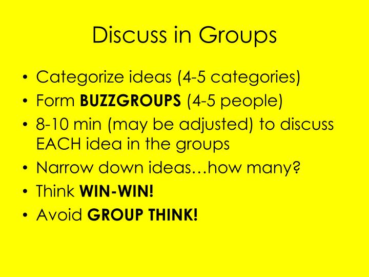 Discuss in Groups