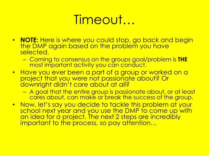 Timeout…