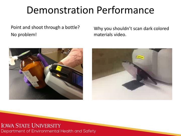 Demonstration Performance