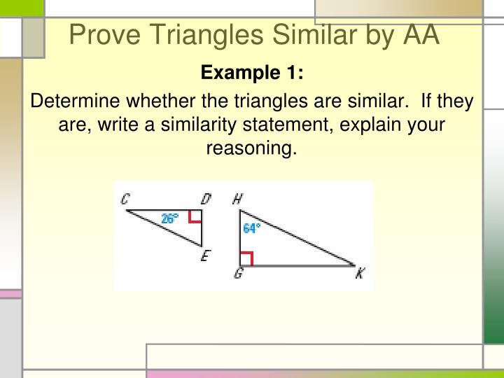 How to Prove Similar Triangles