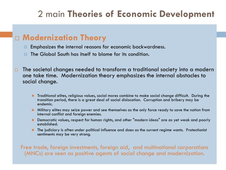 2 main theories of economic development1