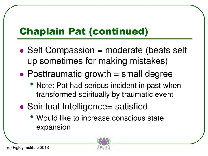 Chaplain Pat (continued)