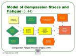 model of compassion stress and fatigue p 44