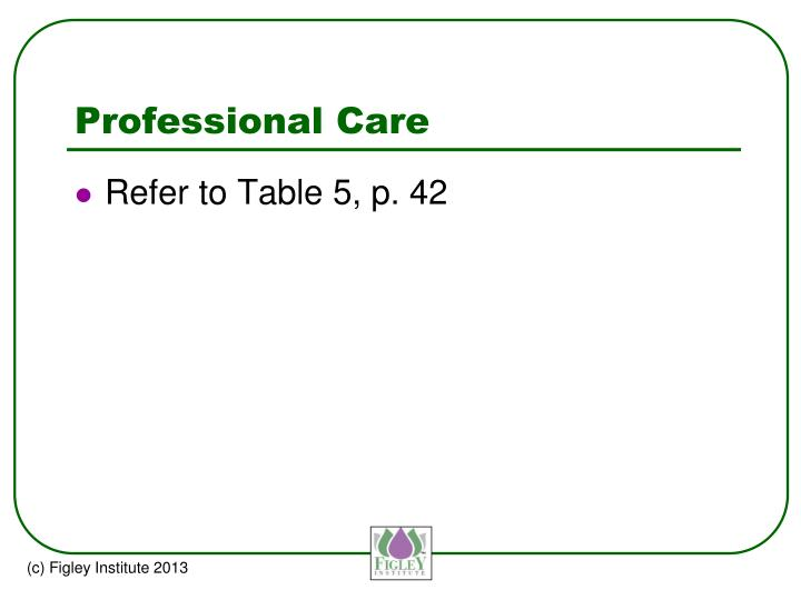 Professional Care