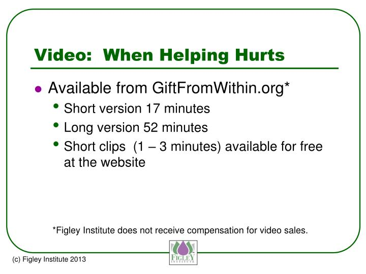 Video:  When Helping Hurts