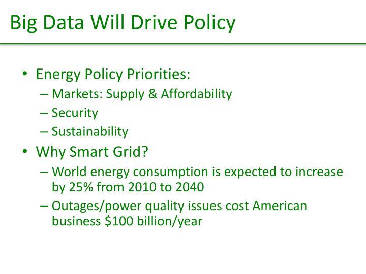 Big Data Will Drive Policy