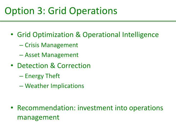 Option 3: Grid Operations