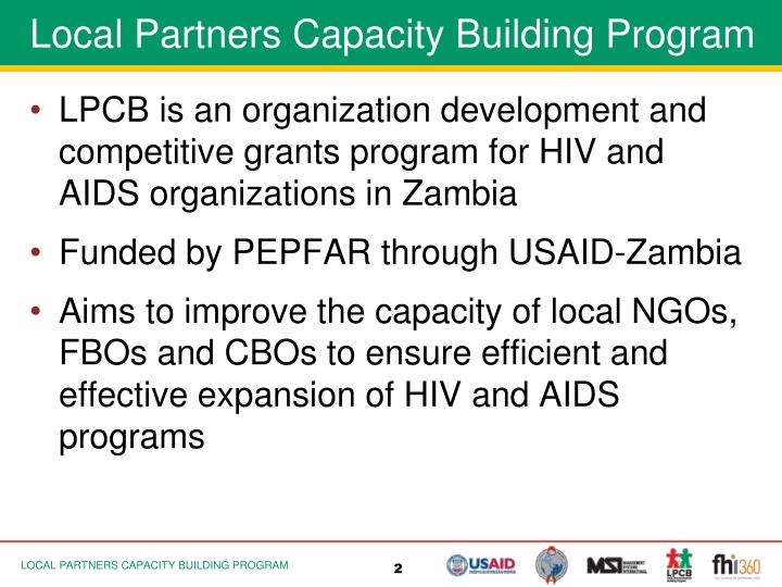 Local Partners Capacity Building