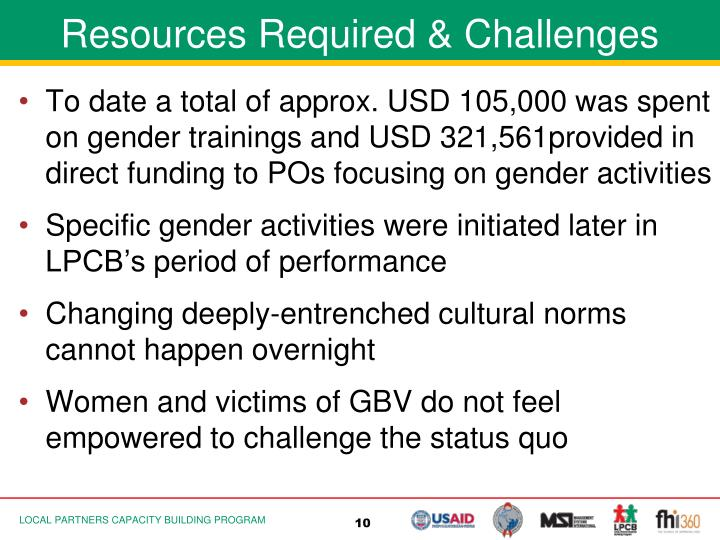 Resources Required & Challenges