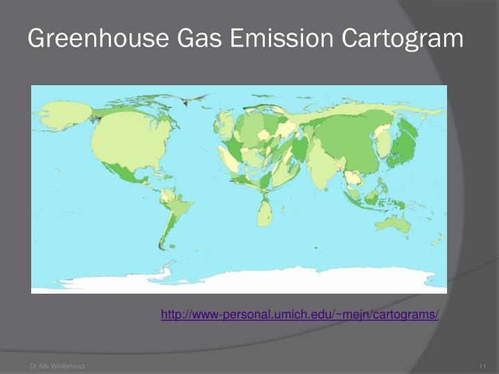 Greenhouse Gas Emission Cartogram