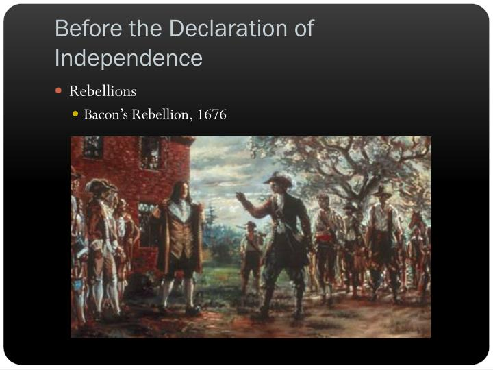 Before the Declaration of Independence