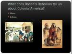 what does bacon s rebellion tell us about colonial america1