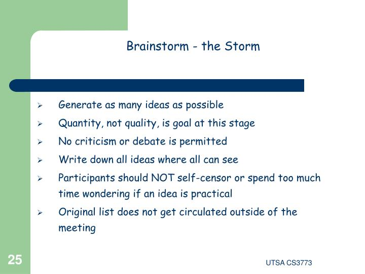Brainstorm - the Storm